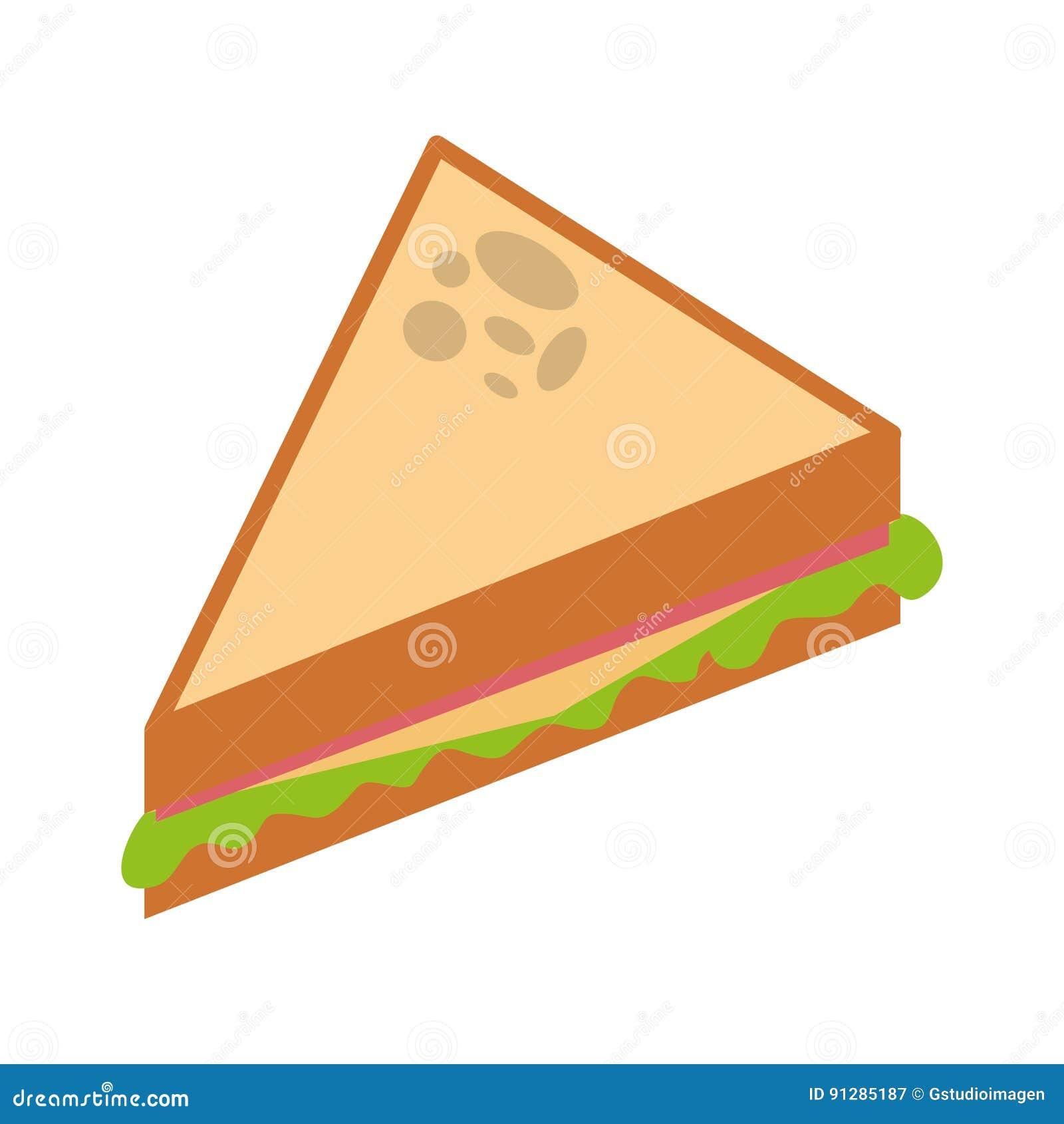 Läcker sandwish isolerad symbol