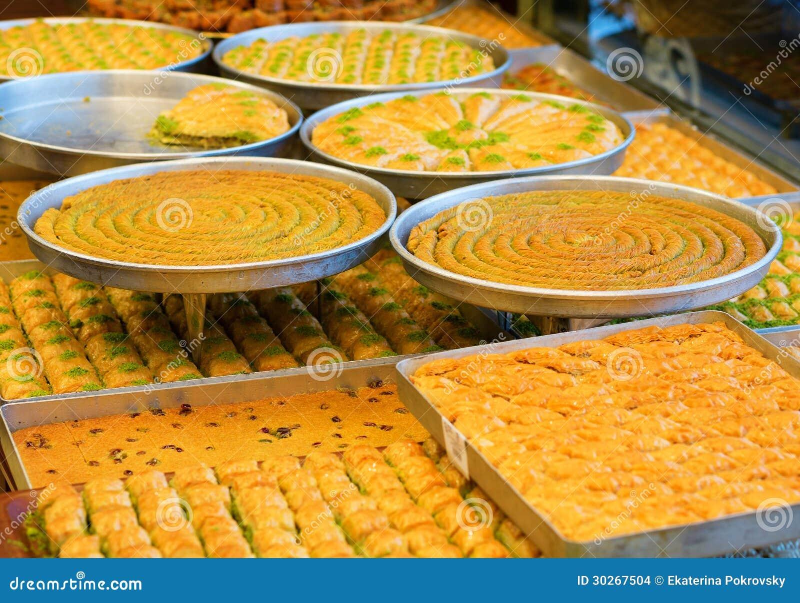 Läcker turkisk baklava
