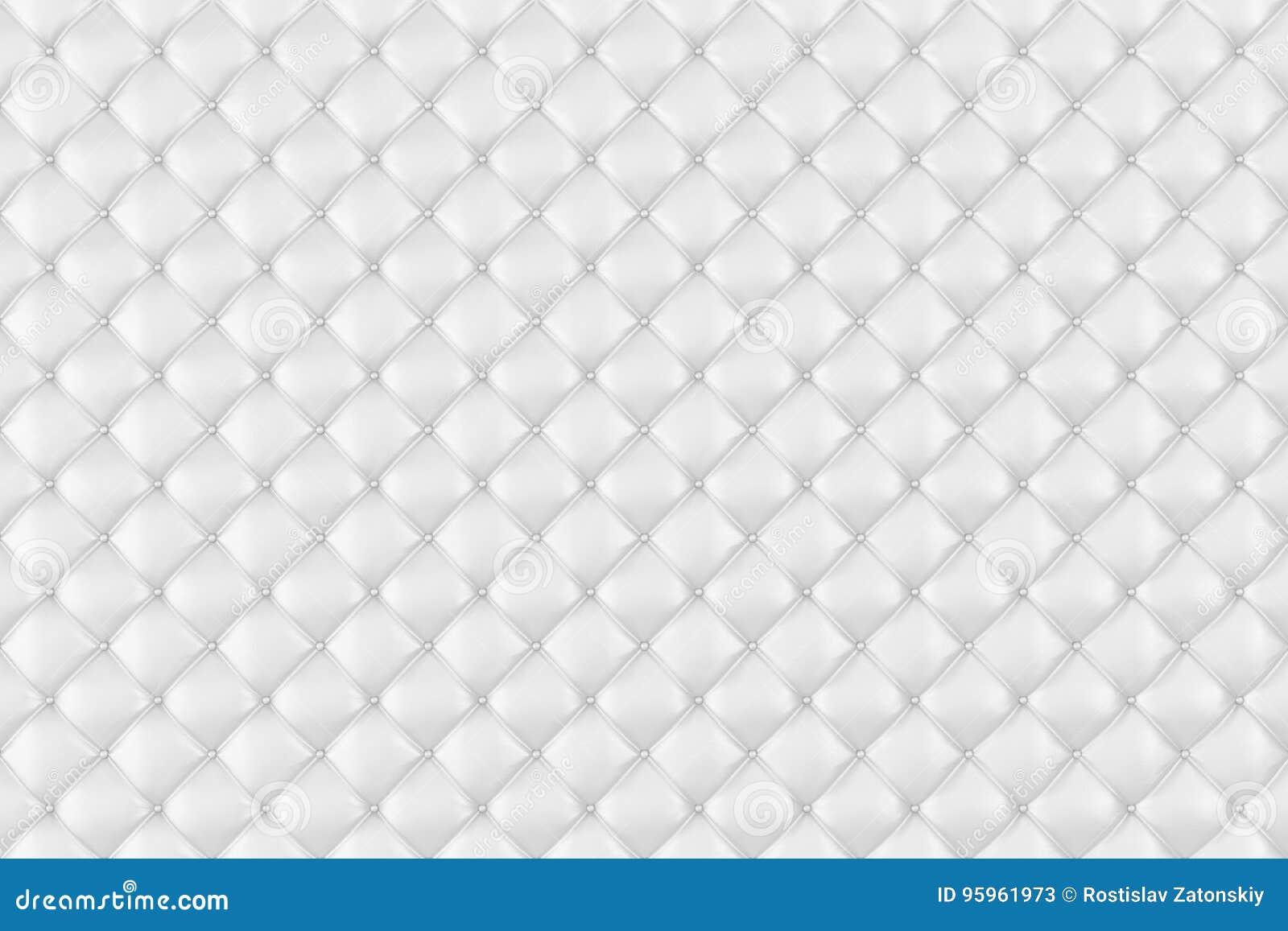 03fa218ab6f1 Läderstoppning Sofa Background Vit lyxig garneringsoffa Elegant textur för  vitt läder med knappar för modell