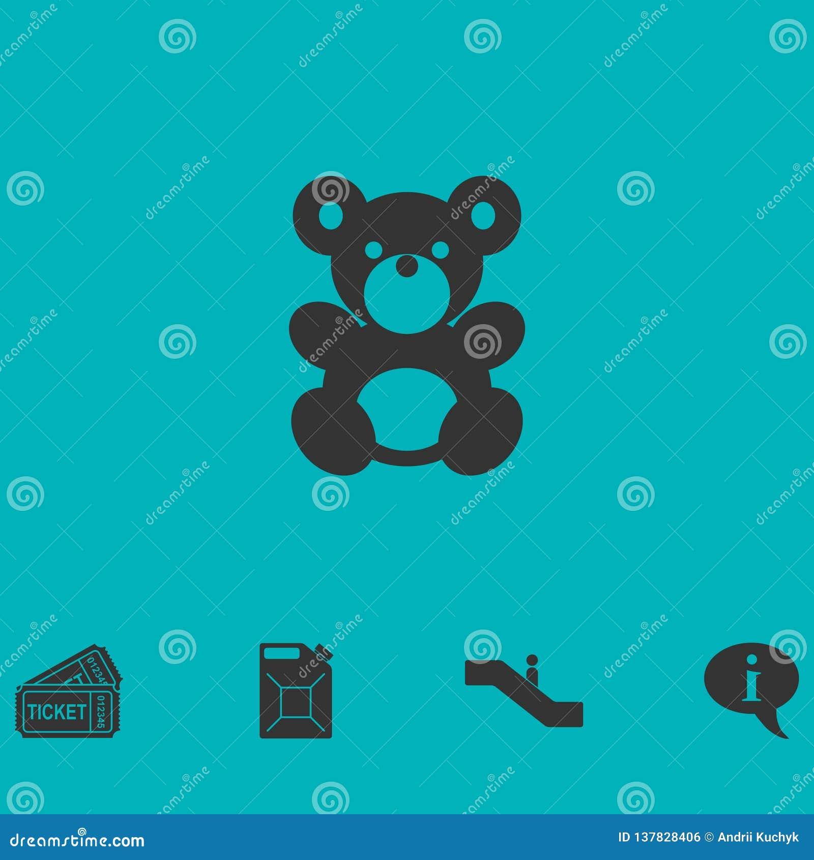 Lägenhet för symbol för nallebjörn