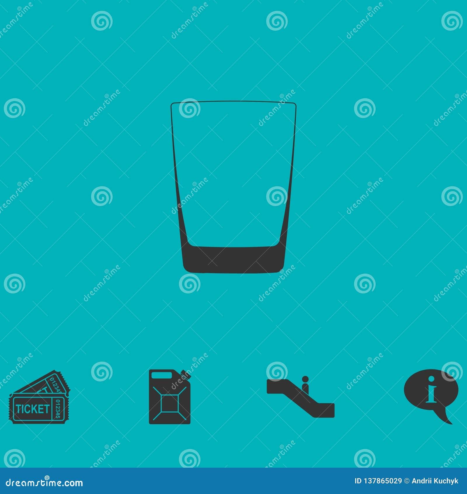 Lägenhet för whiskyexponeringsglassymbol