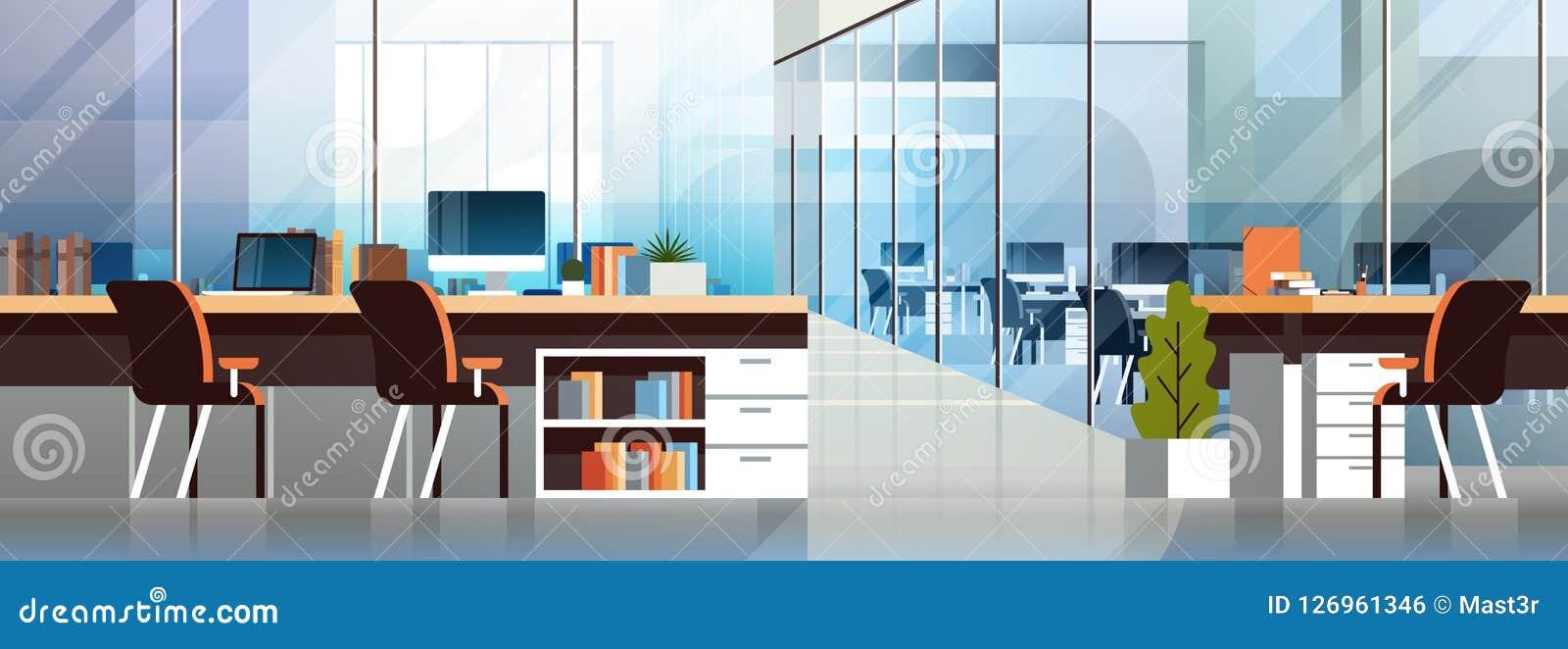 Lägenhet för workspace för inre modernt för mitt för Coworking kontor idérikt för arbetsplats baner för miljö horisontaltom