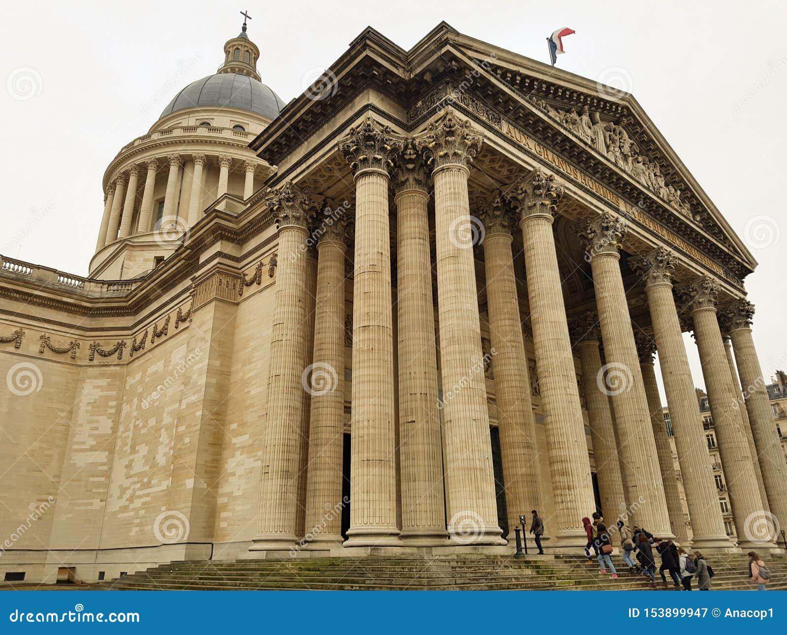 Läggande på panteon av Paris