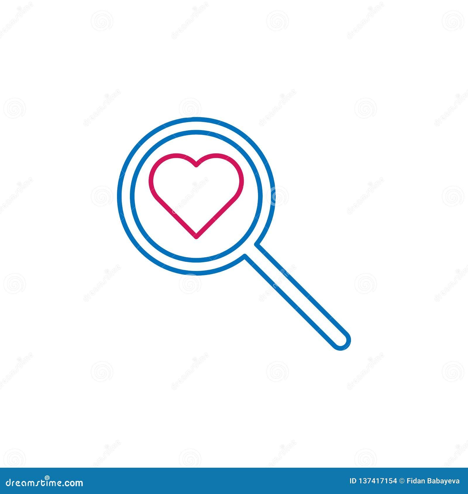 Läkarundersökning kulör symbol för förstoringsglas Beståndsdel av medicinillustrationen Tecknet och symbolsymbolen kan användas f
