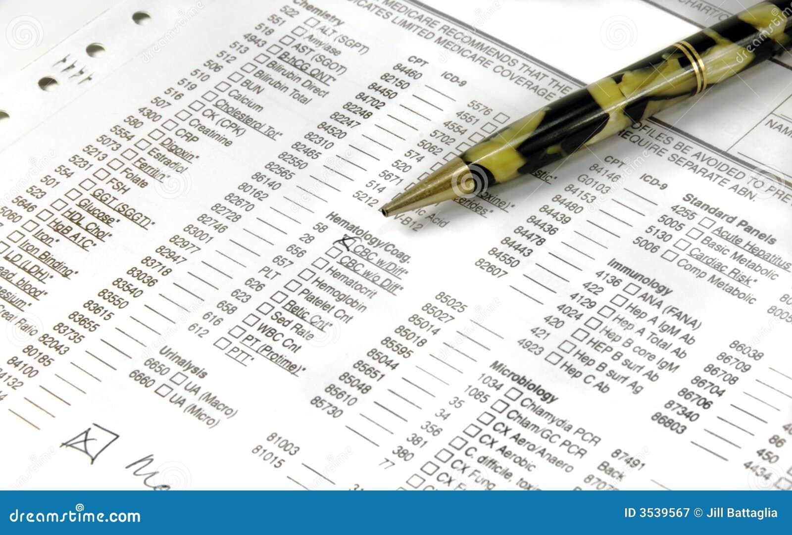 Läkarundersökningen papers pennan
