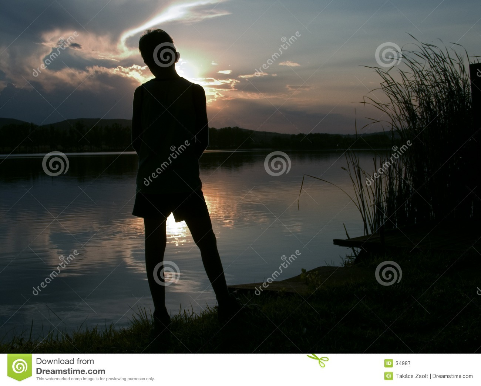 Längtande silhouette