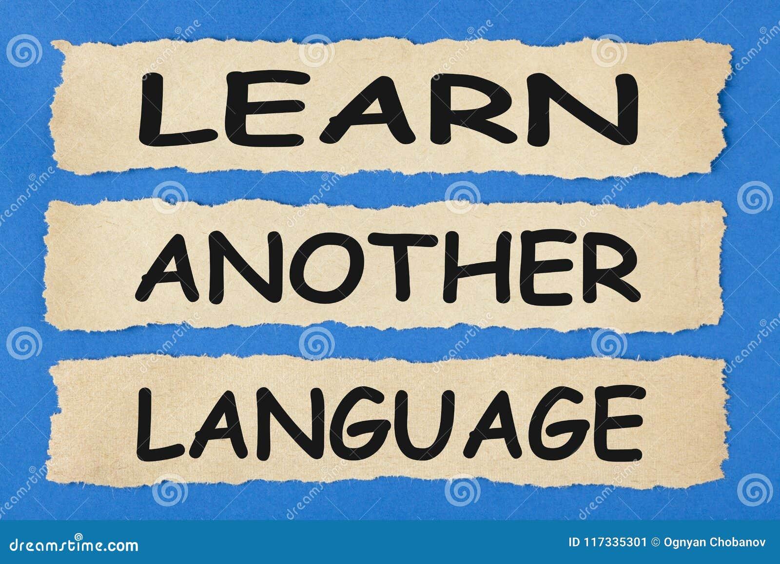 Lär ett annat språkbegrepp