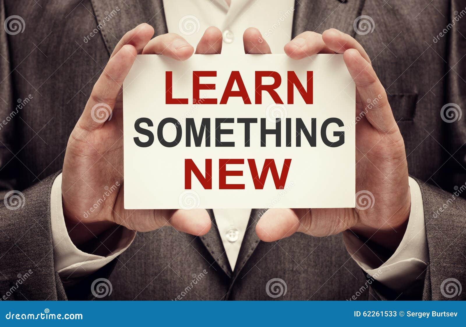 Lär nytt något
