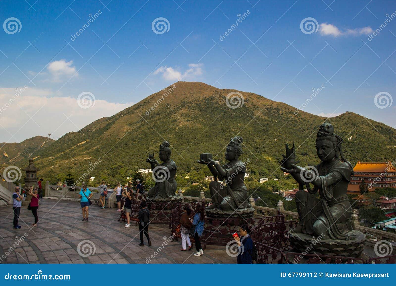 Lärjunge av den stora Buddha