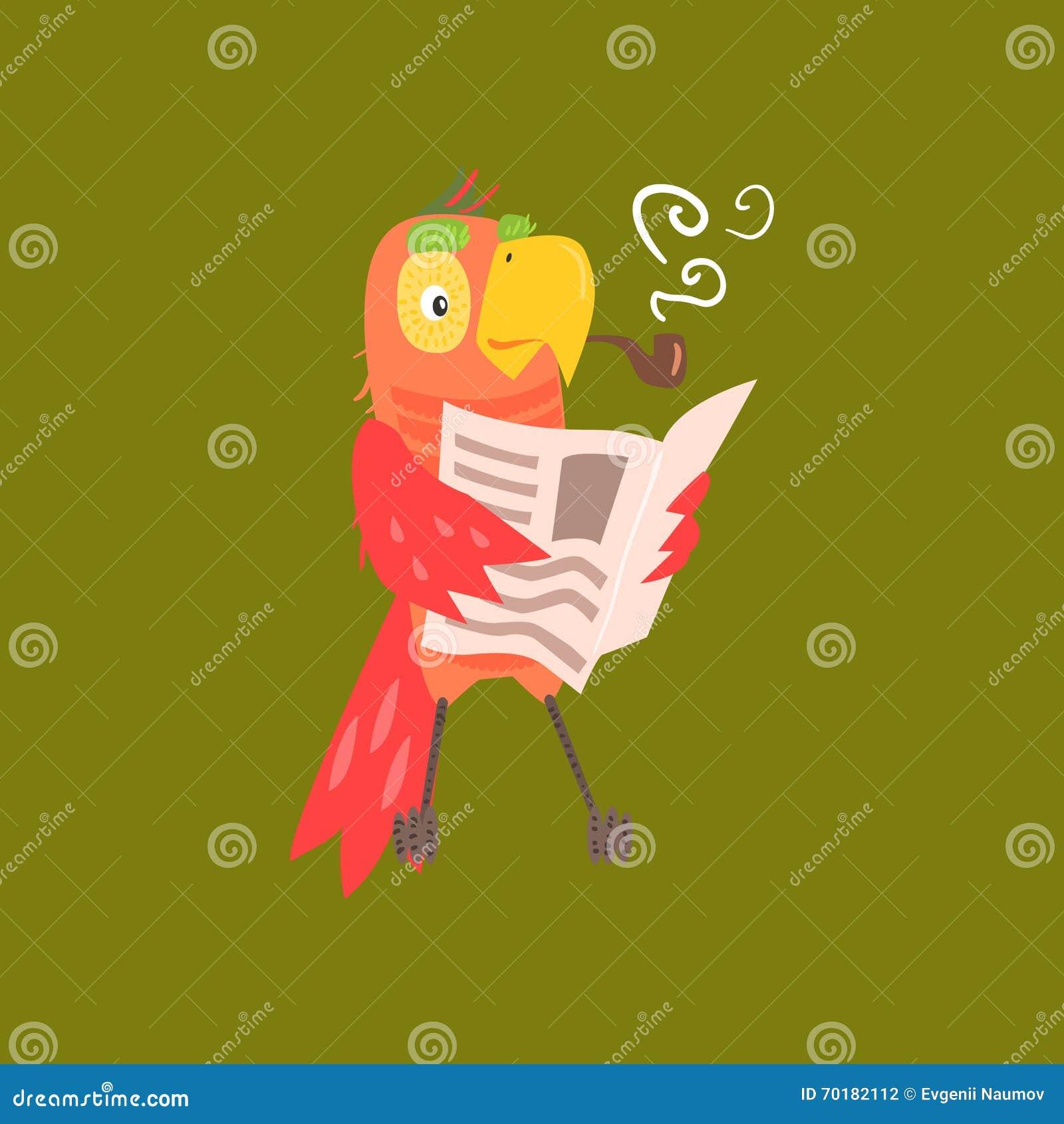 Läs- tidningsbild för papegoja
