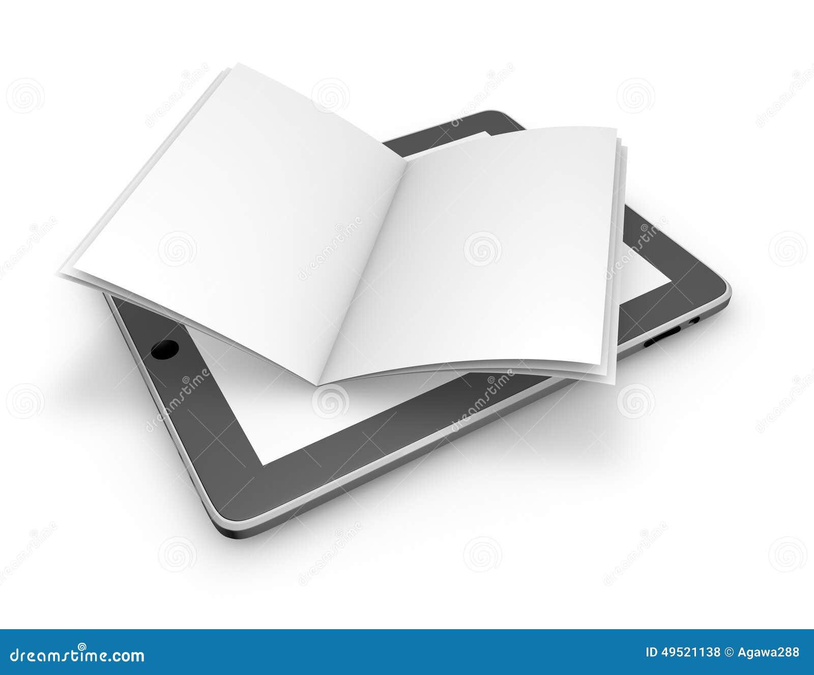 Läsa på linje, gör sammandrag öppnar elektroniska publikationer begrepp med minnestavlan och boken