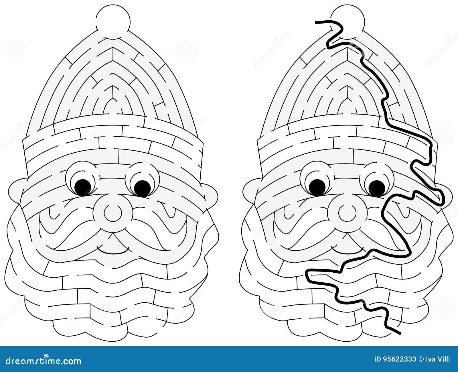 Lätt Santa Claus labyrint