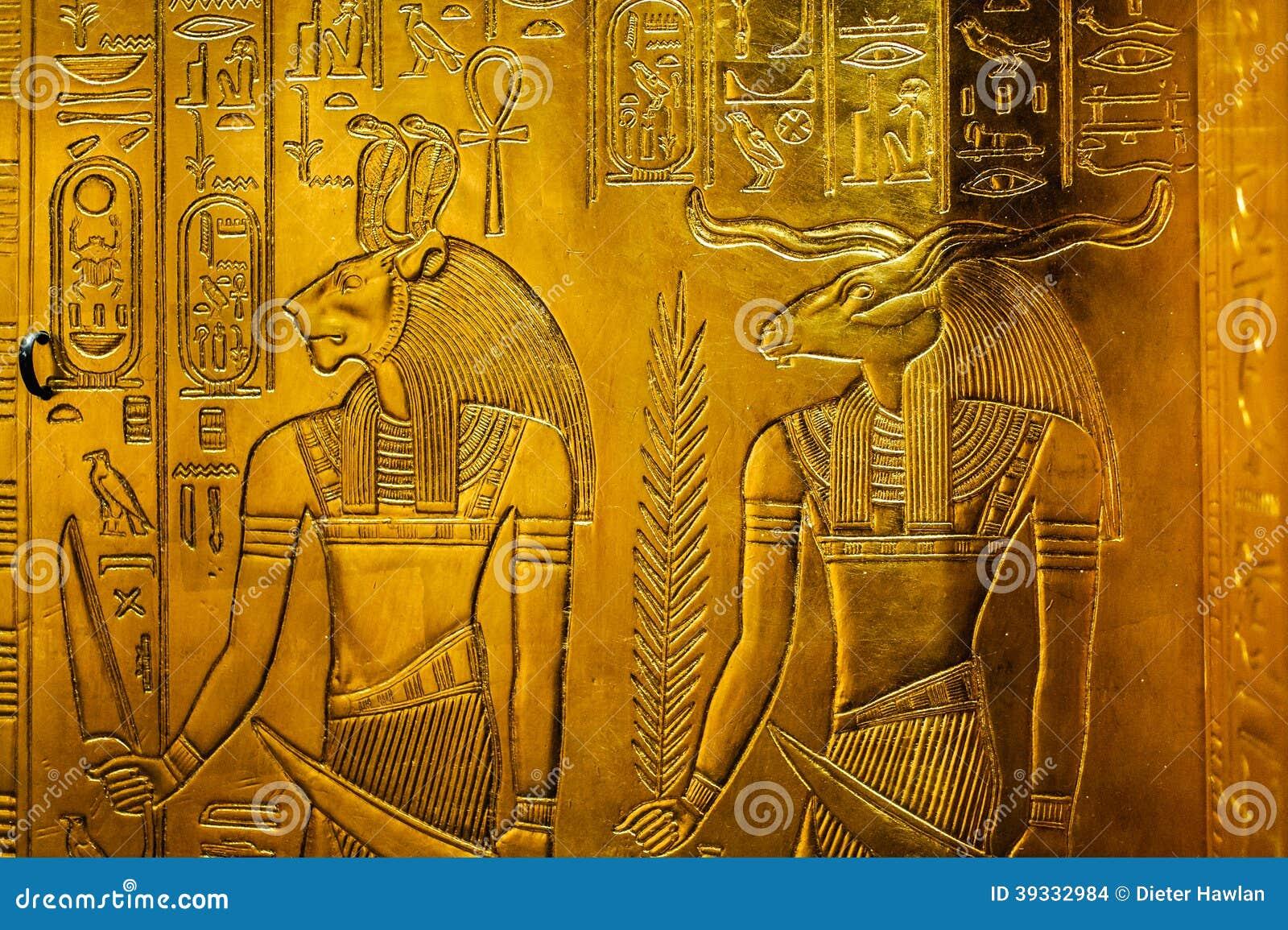 Lättnad med Egypten gudar