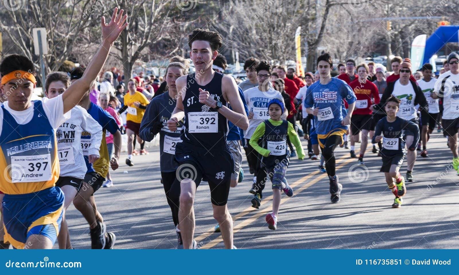 Läufer, die Straße 5K laufen