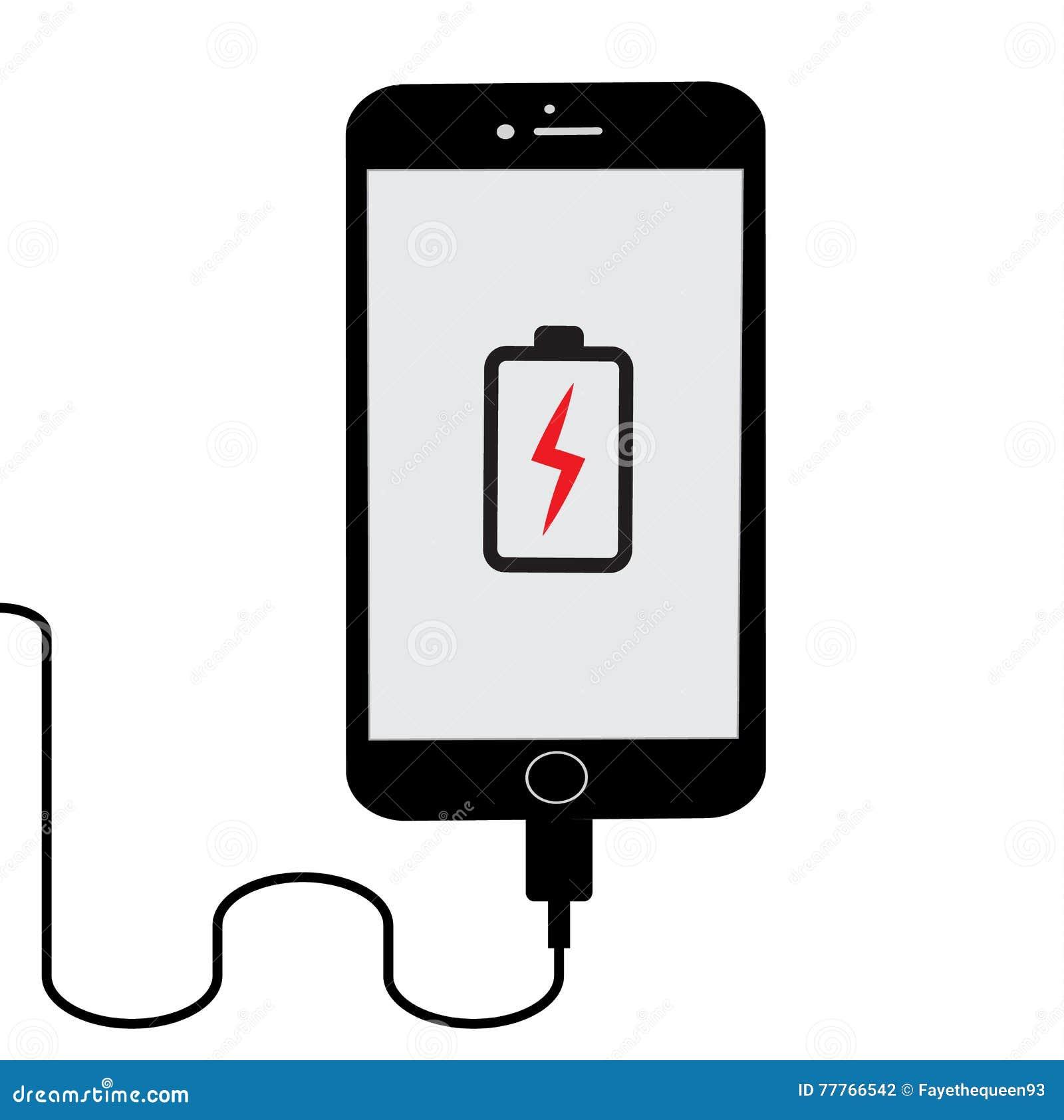 Lågt batteri Plan telefonuppladdning - -