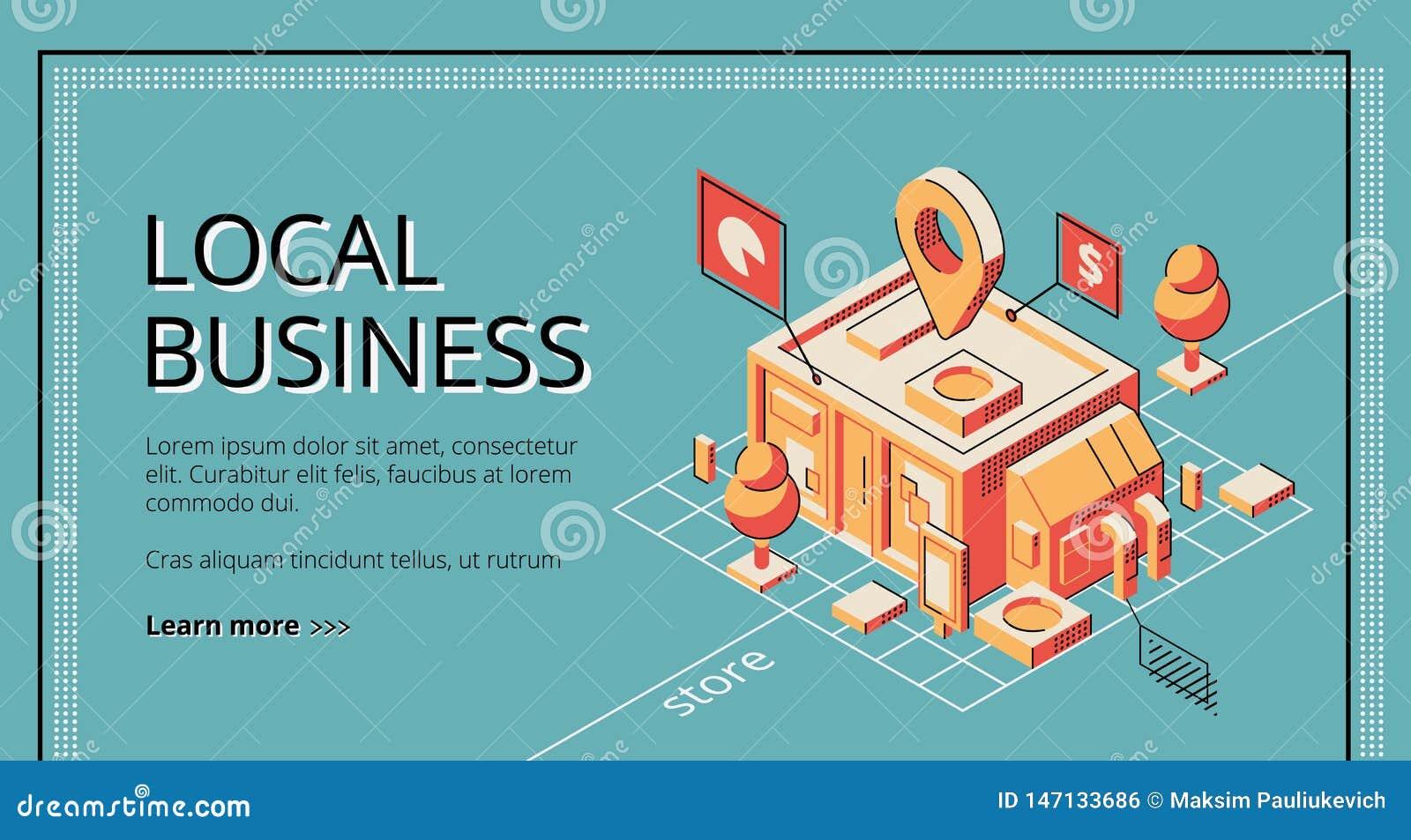 Låna programmet för lokal affärsvektorwebsite
