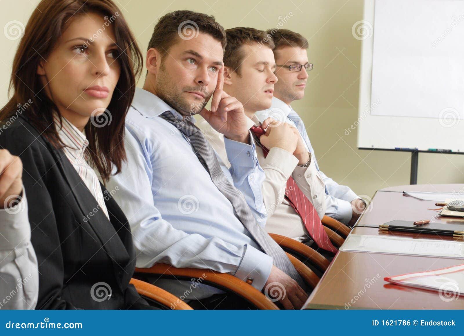 Lång affärskonferens