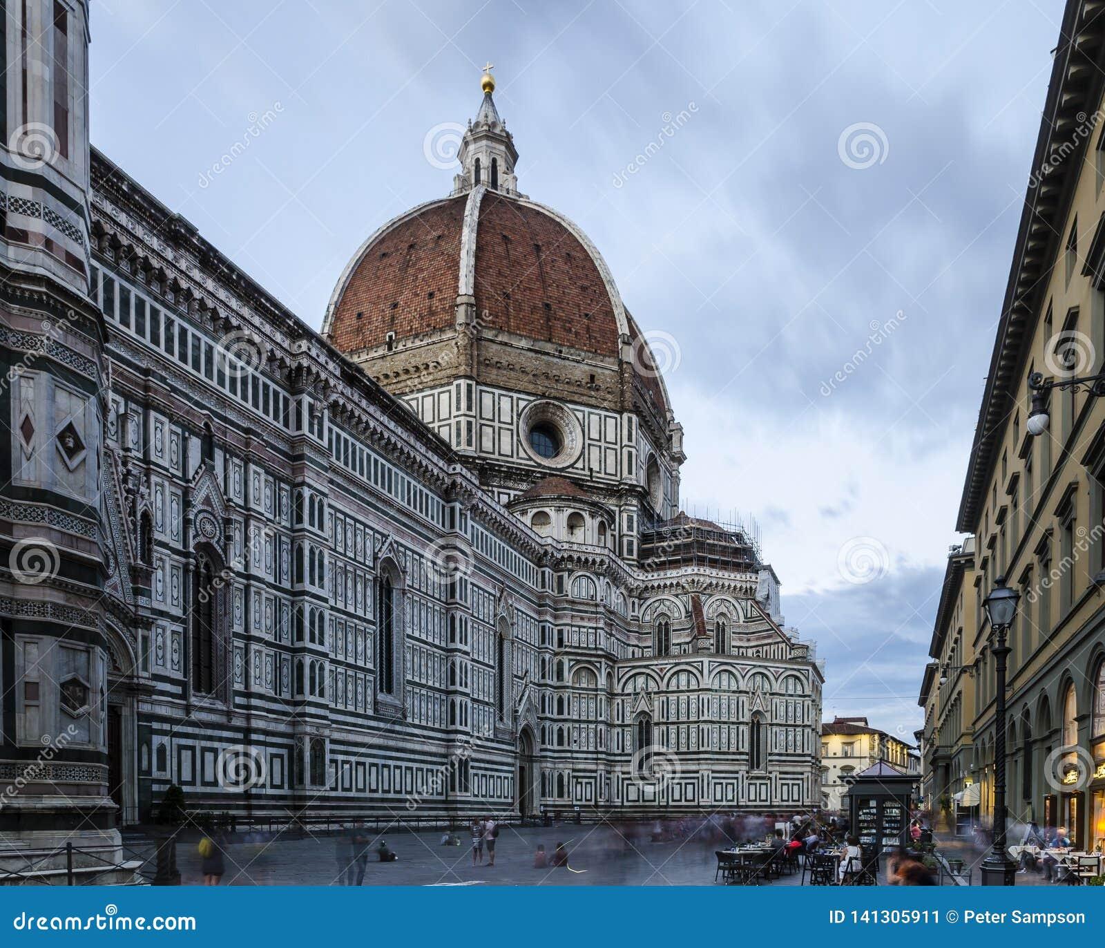 Lång exponering av Florence Cathedral