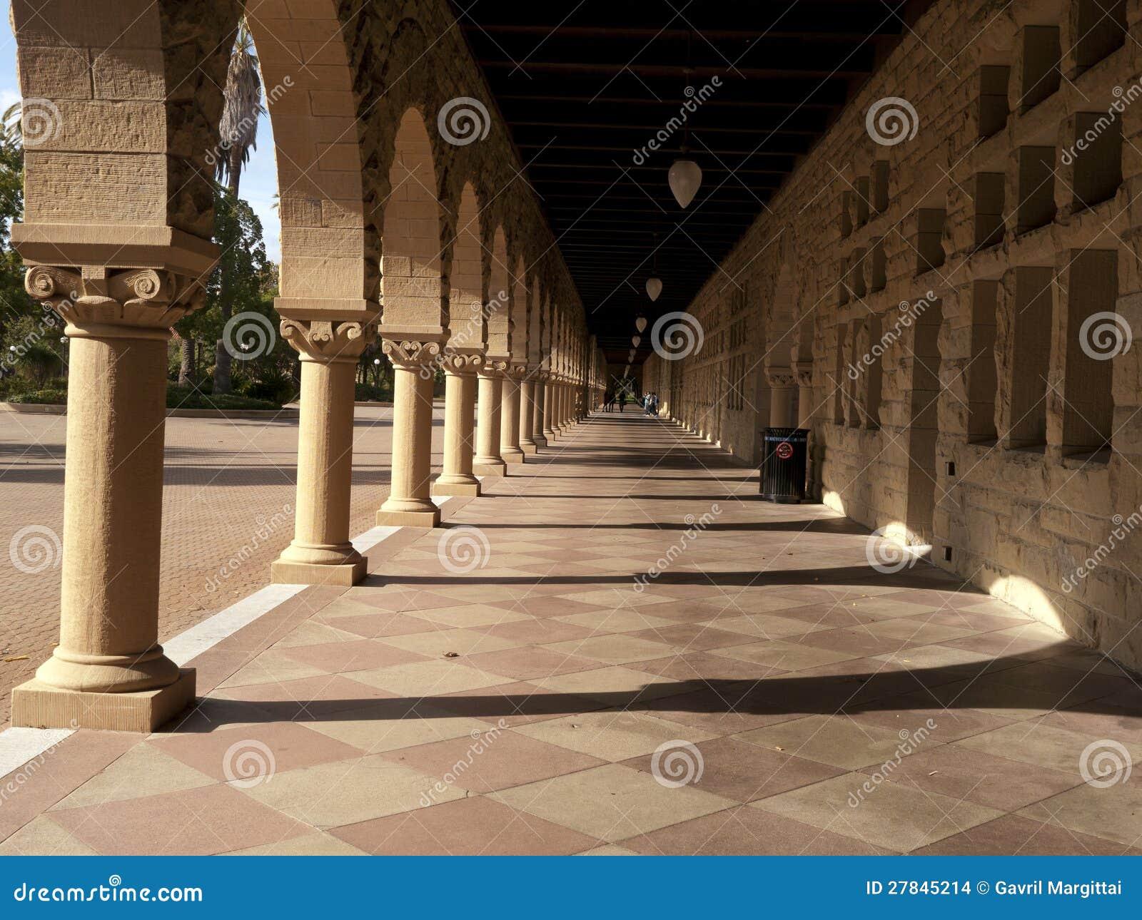 Lång korridor på Stanford
