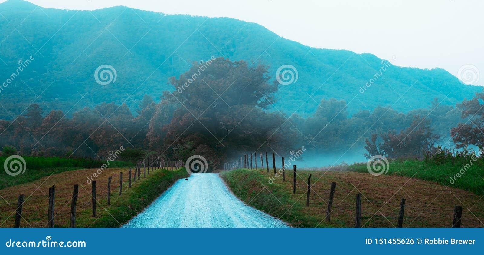 Lång landsväg i den Cades lilla viken