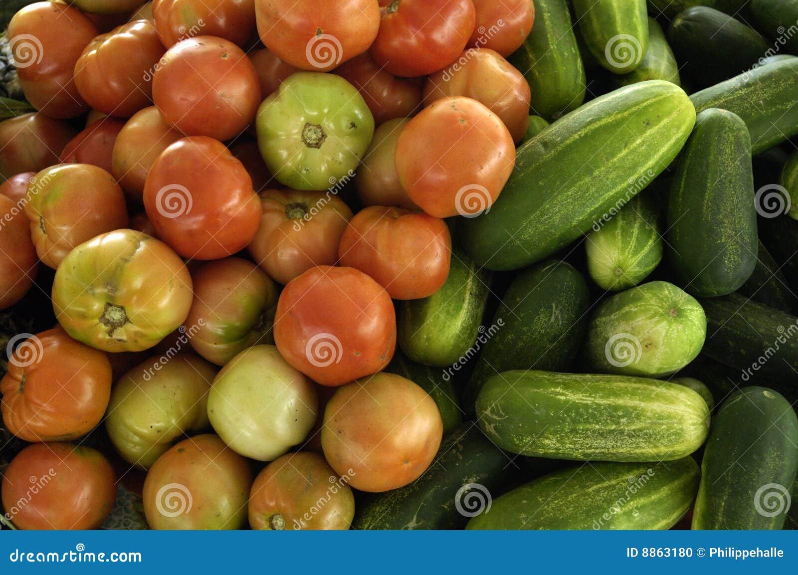 Légumes à un marché créole