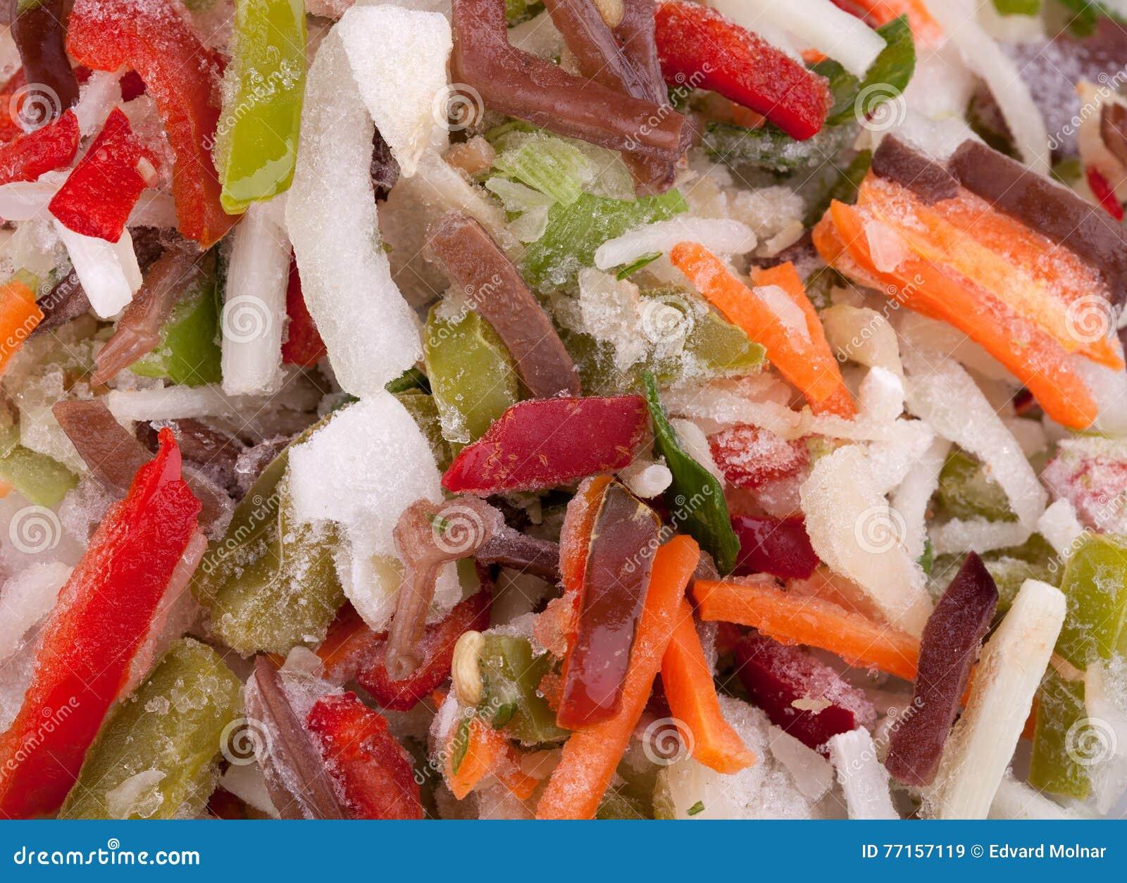 Légumes congelés de mélange de Chinois avec les bandes fongueuses noires de champignons