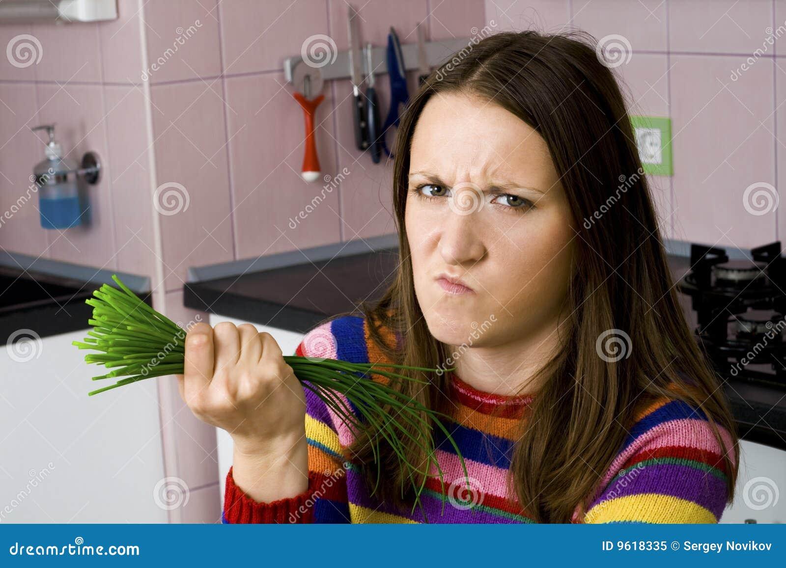 Légumes d aversion de femme