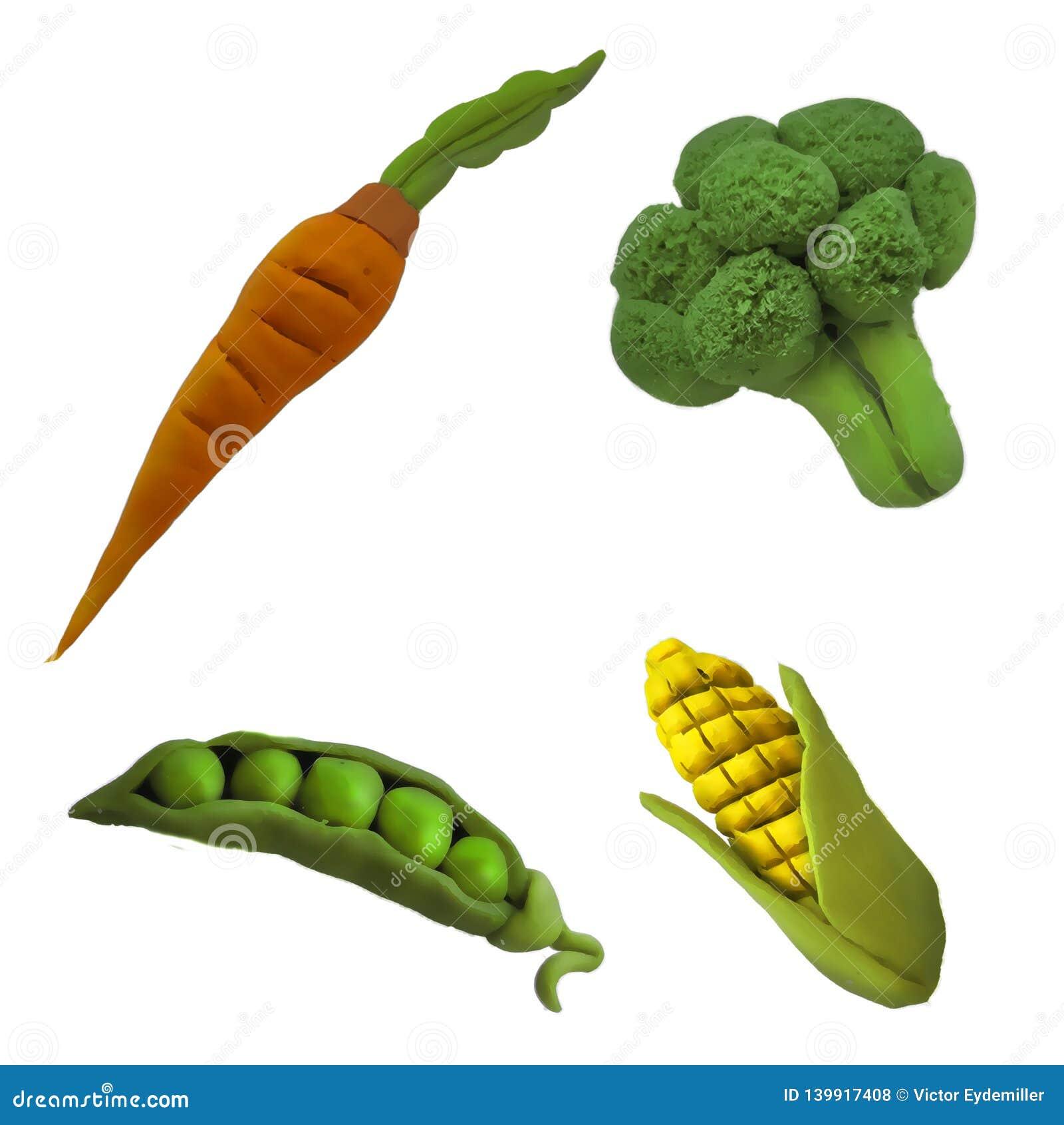 Légumes 1 de pâte à modeler