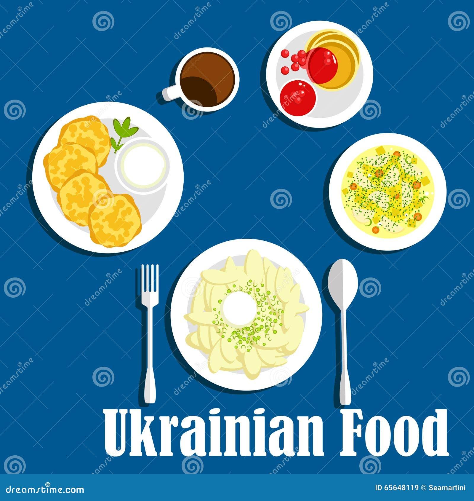 Légumes et boisson ukrainiens frais de cuisine