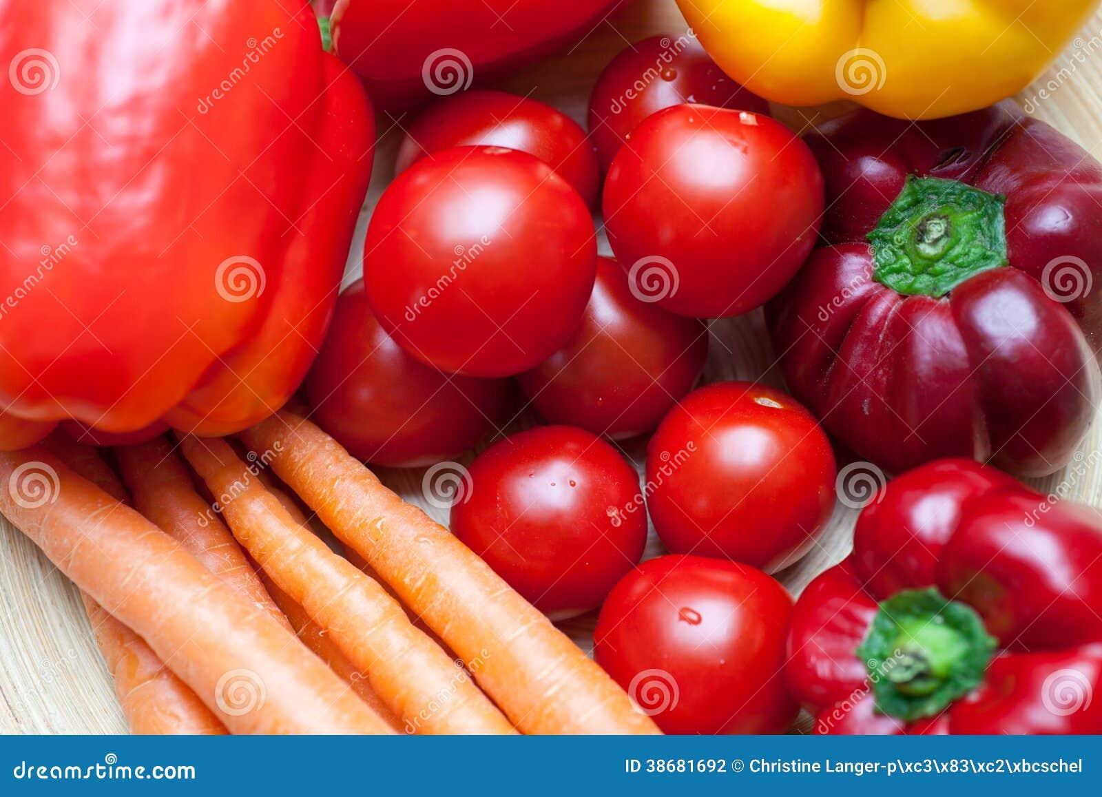 Légumes frais colorés