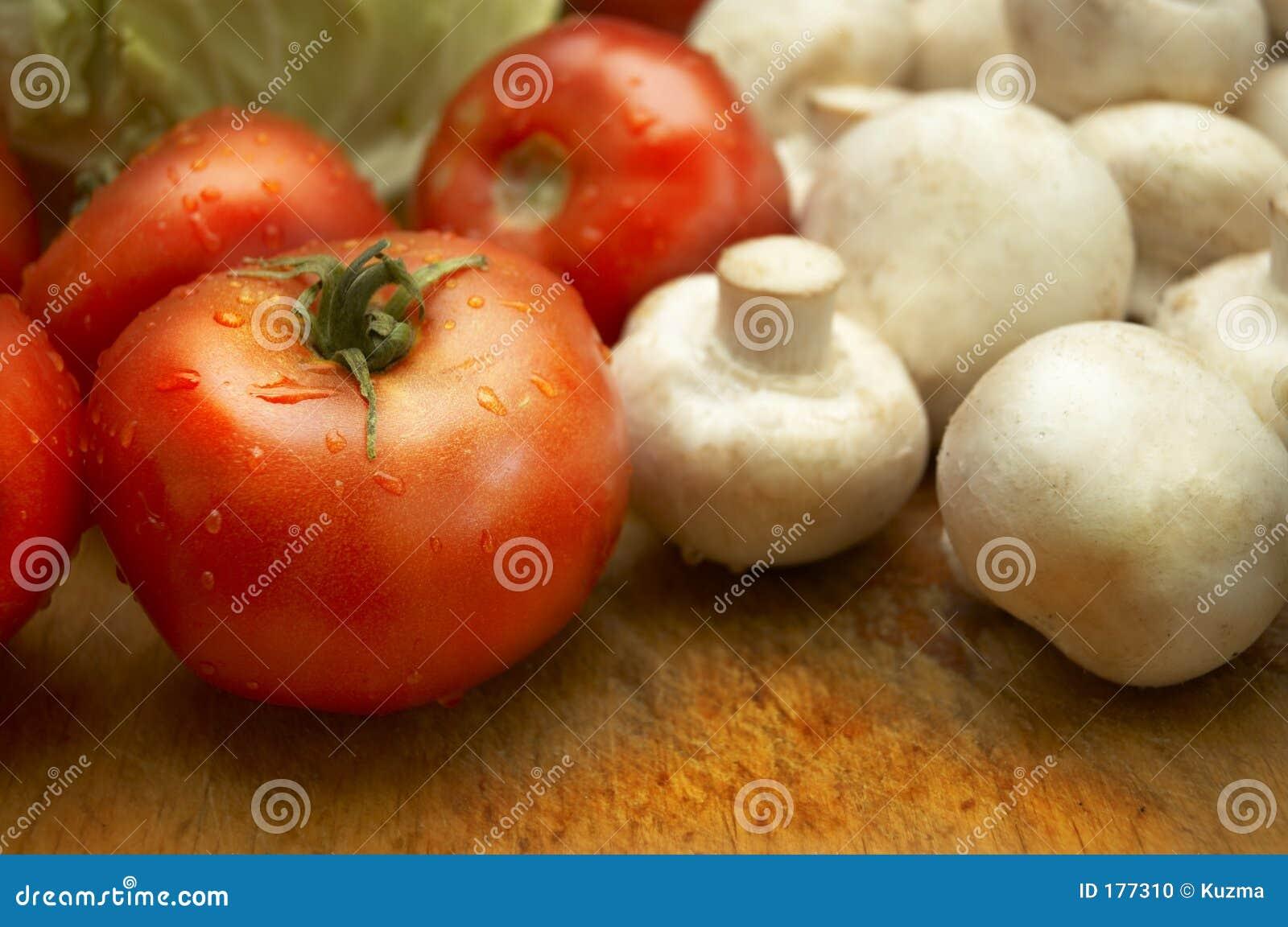 Légumes humides frais