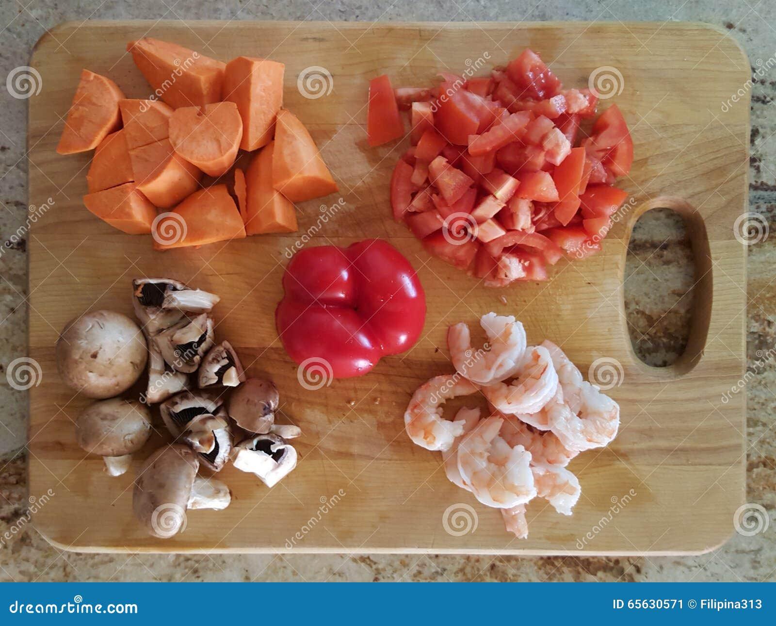 Légumes sur le hachoir