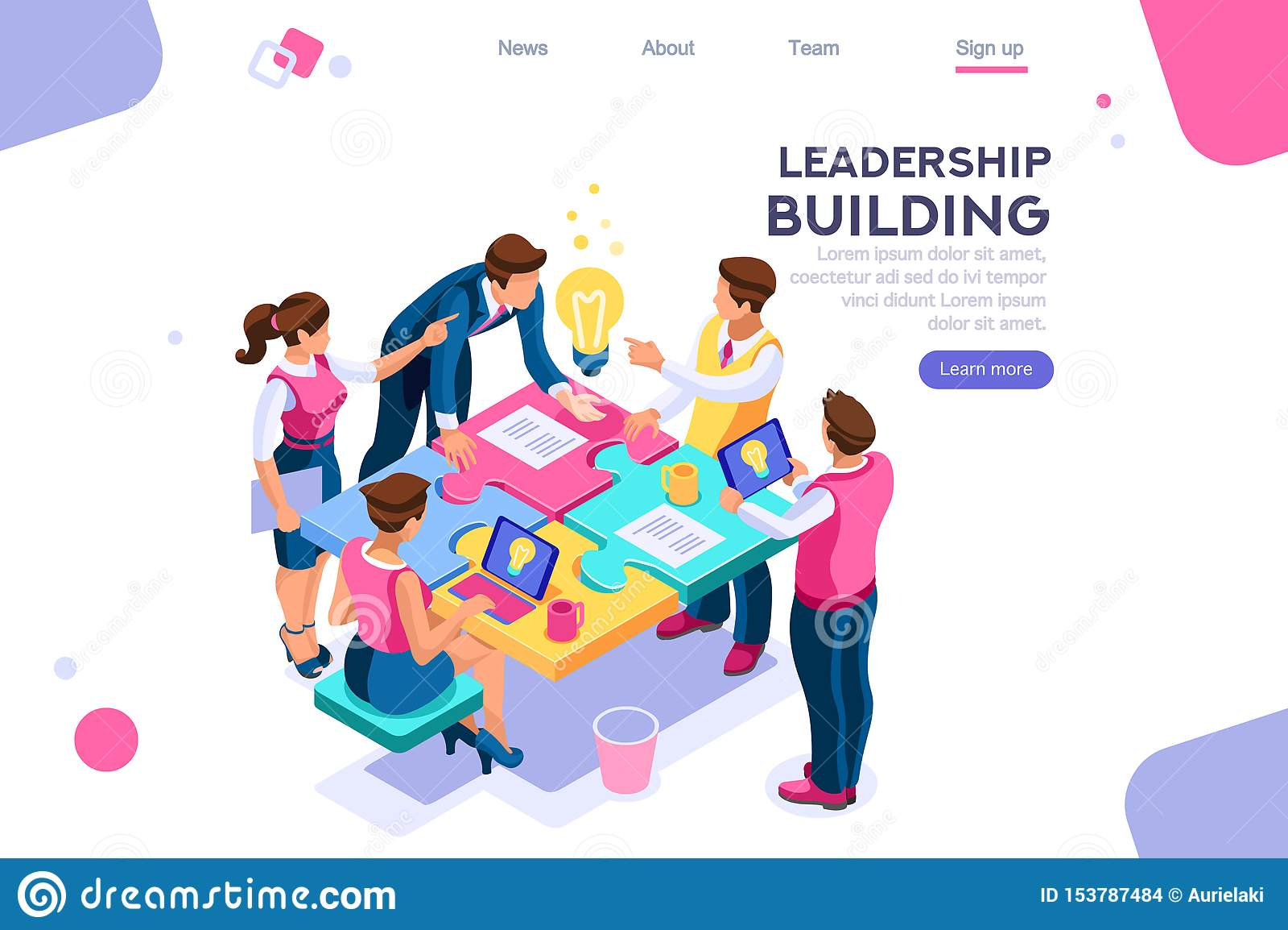 Líder Construction da unidade do enigma do negócio