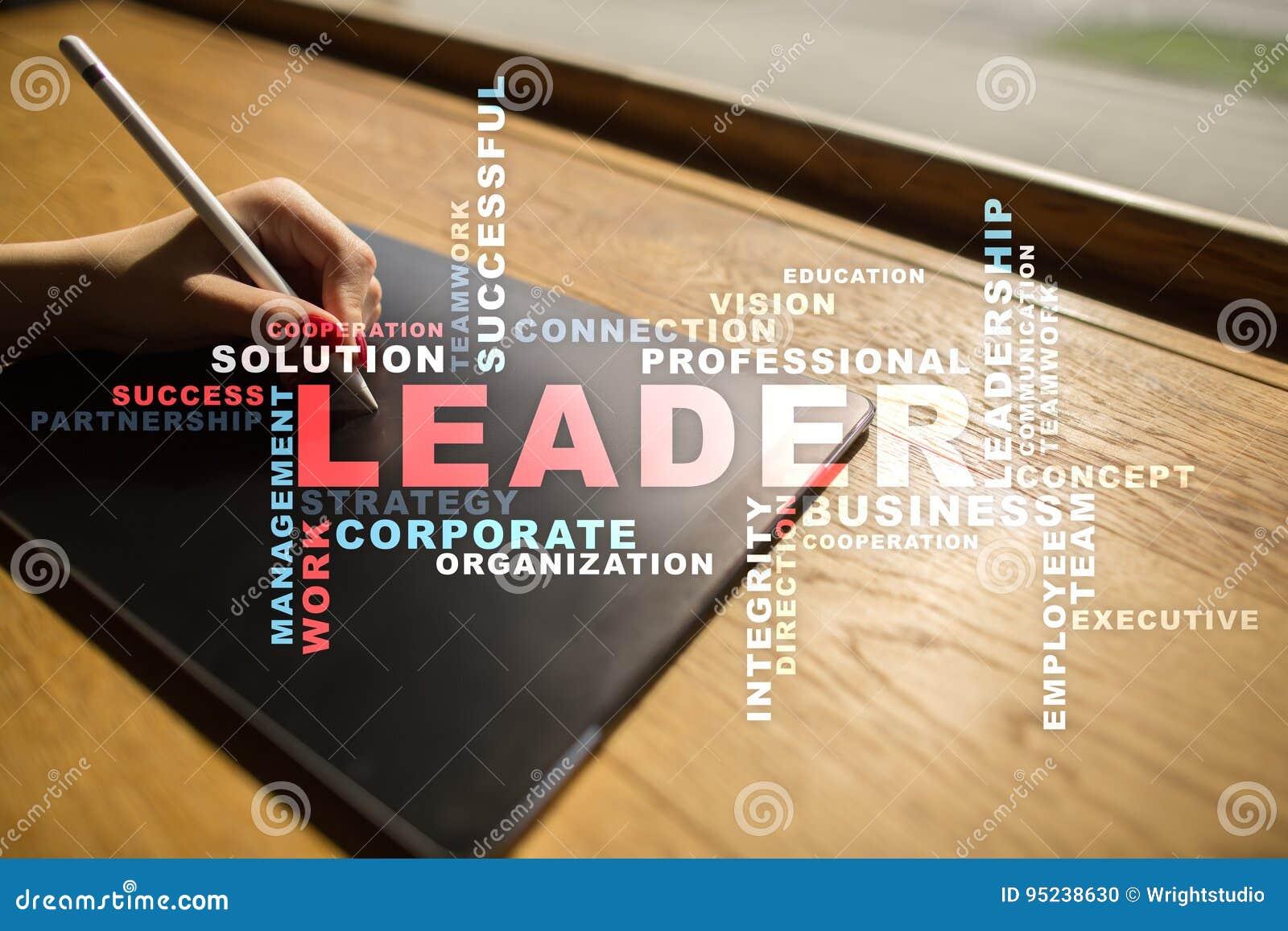 Líder Dirección Teambuilding Concepto del asunto Nube de las palabras