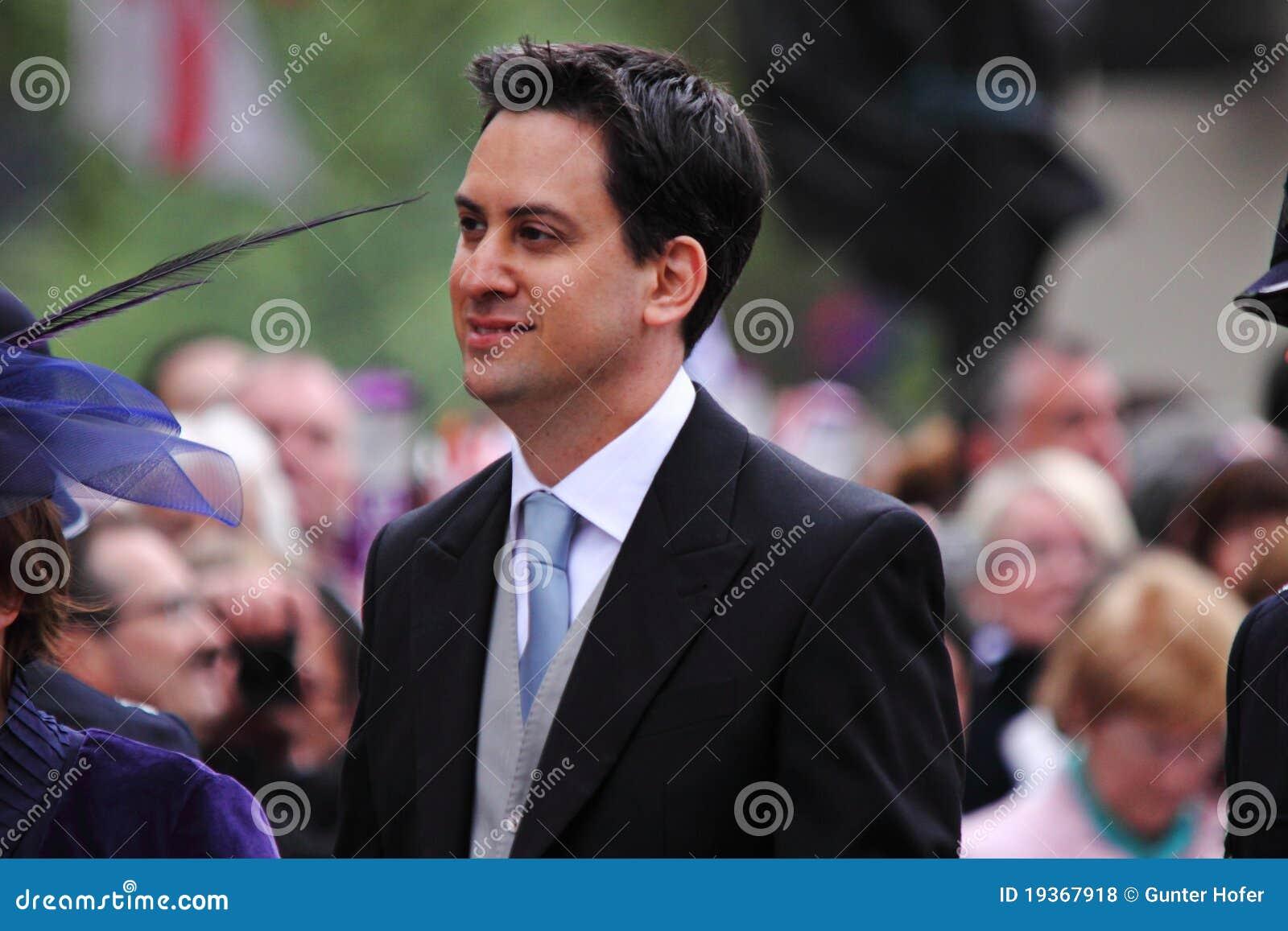 Líder Labour britânico de Ed Miliband