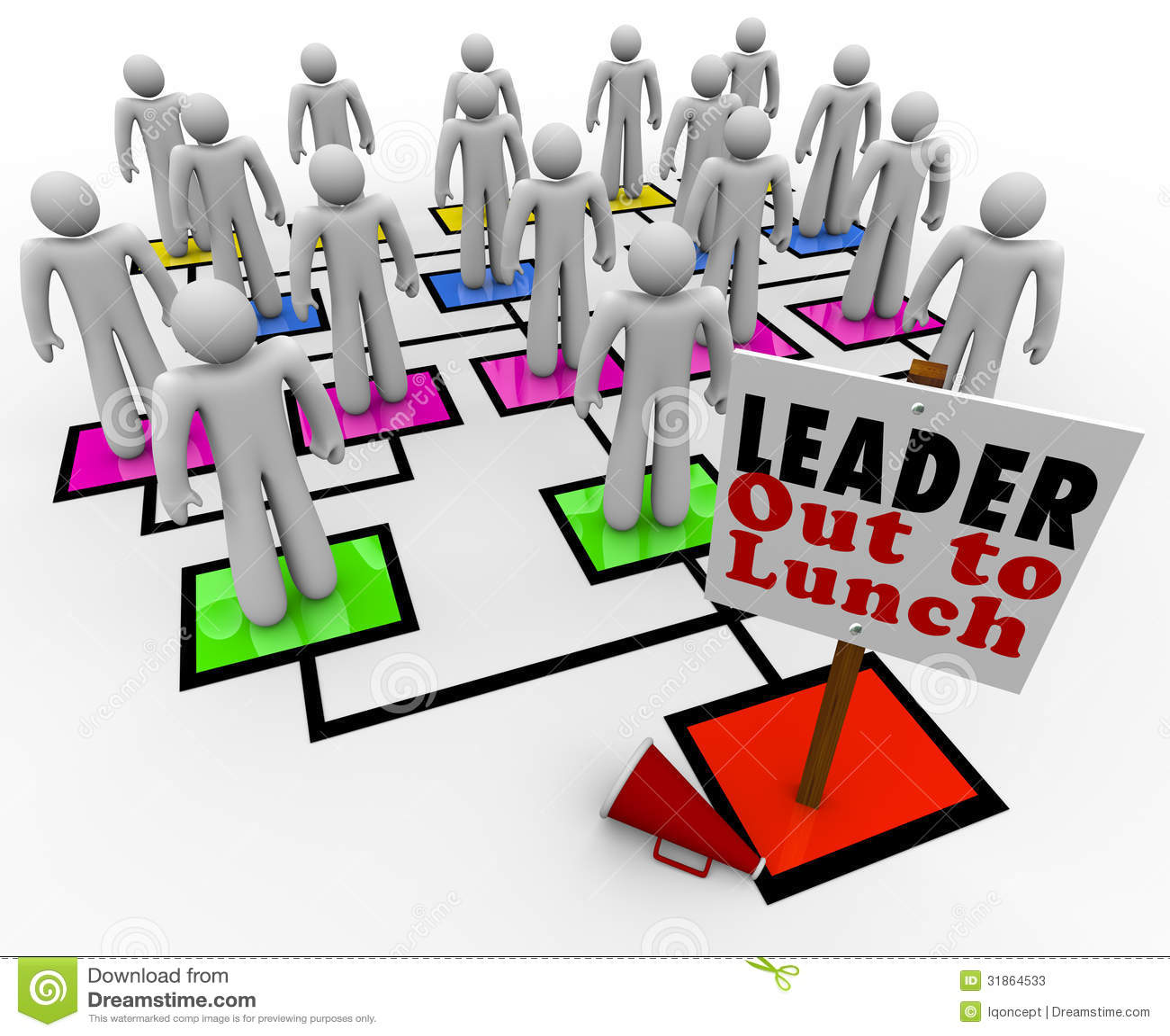 Líder Out al carbón de leña de la organización de Lunch Missing Leadership Company