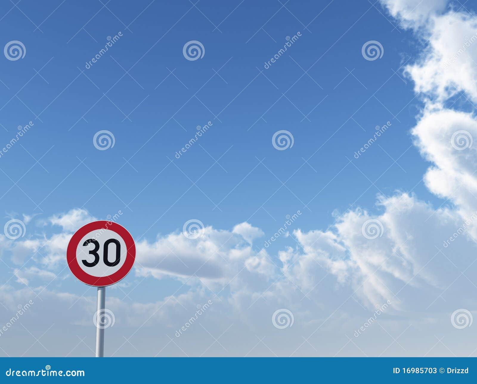 Límite de velocidad treinta