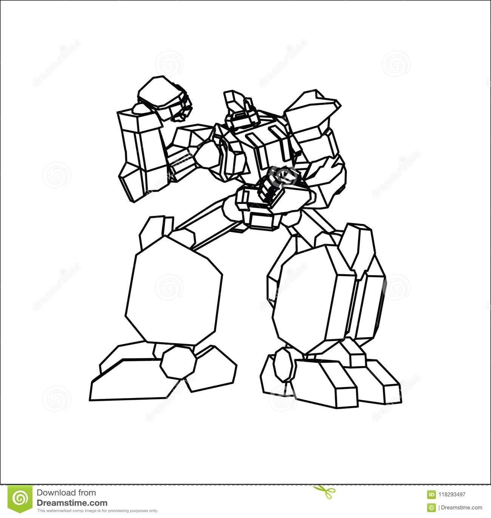 Línea arte del robot