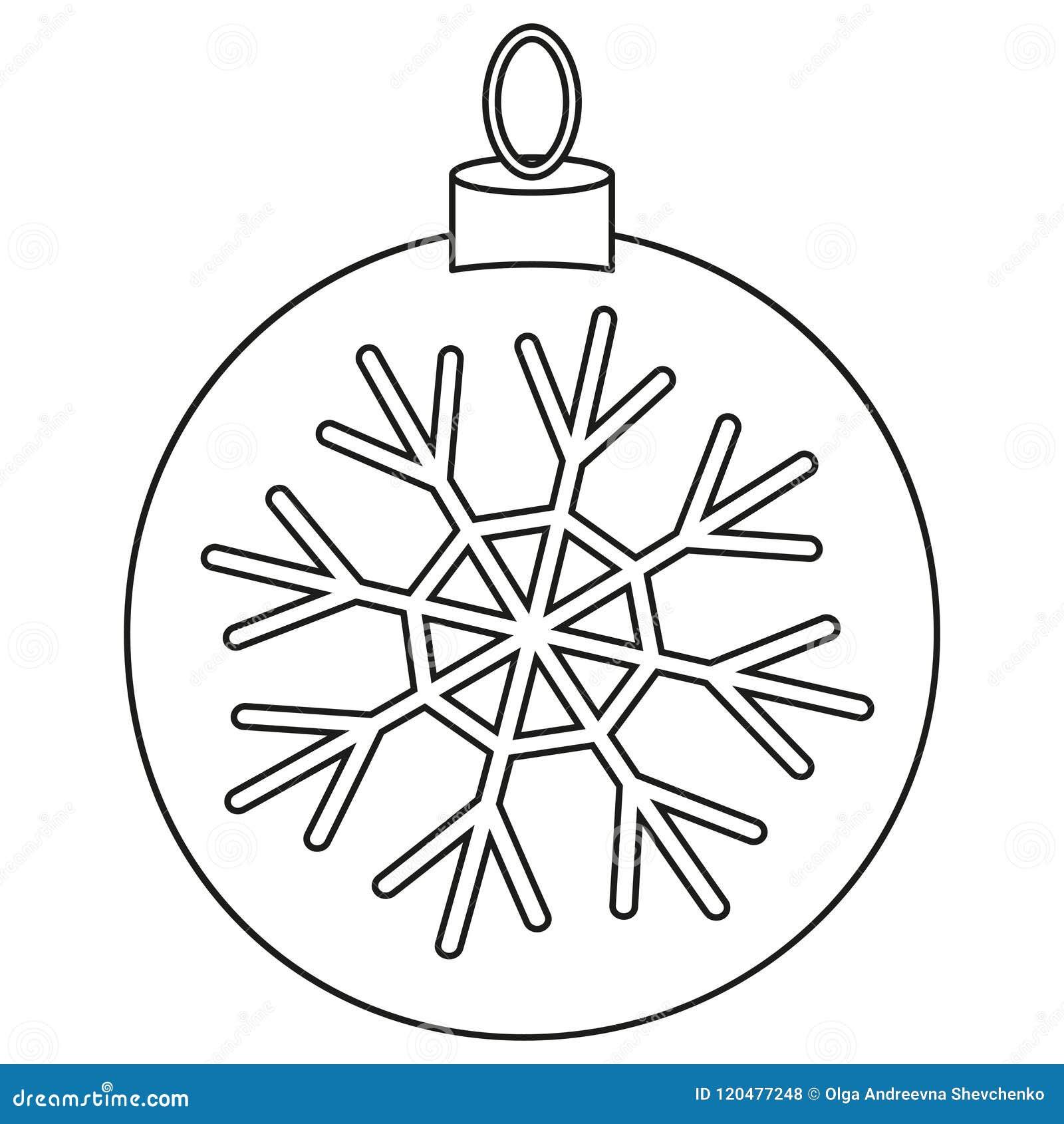Línea Bola Blanco Y Negro De La Navidad Del Arte Ilustración Del