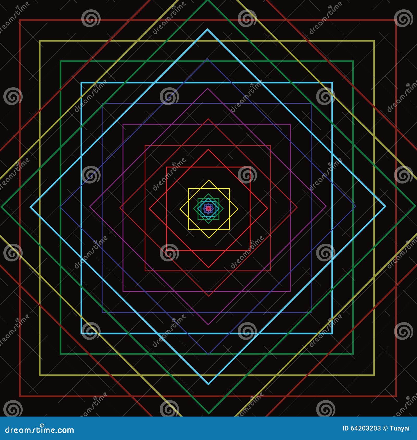 Línea cuadrada colorida movimiento