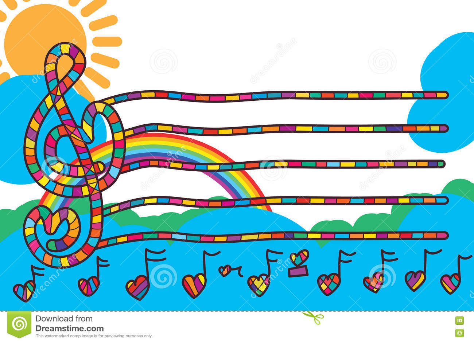 Línea De Amor De La Nota De La Música Tarjeta De La Invitación De ...