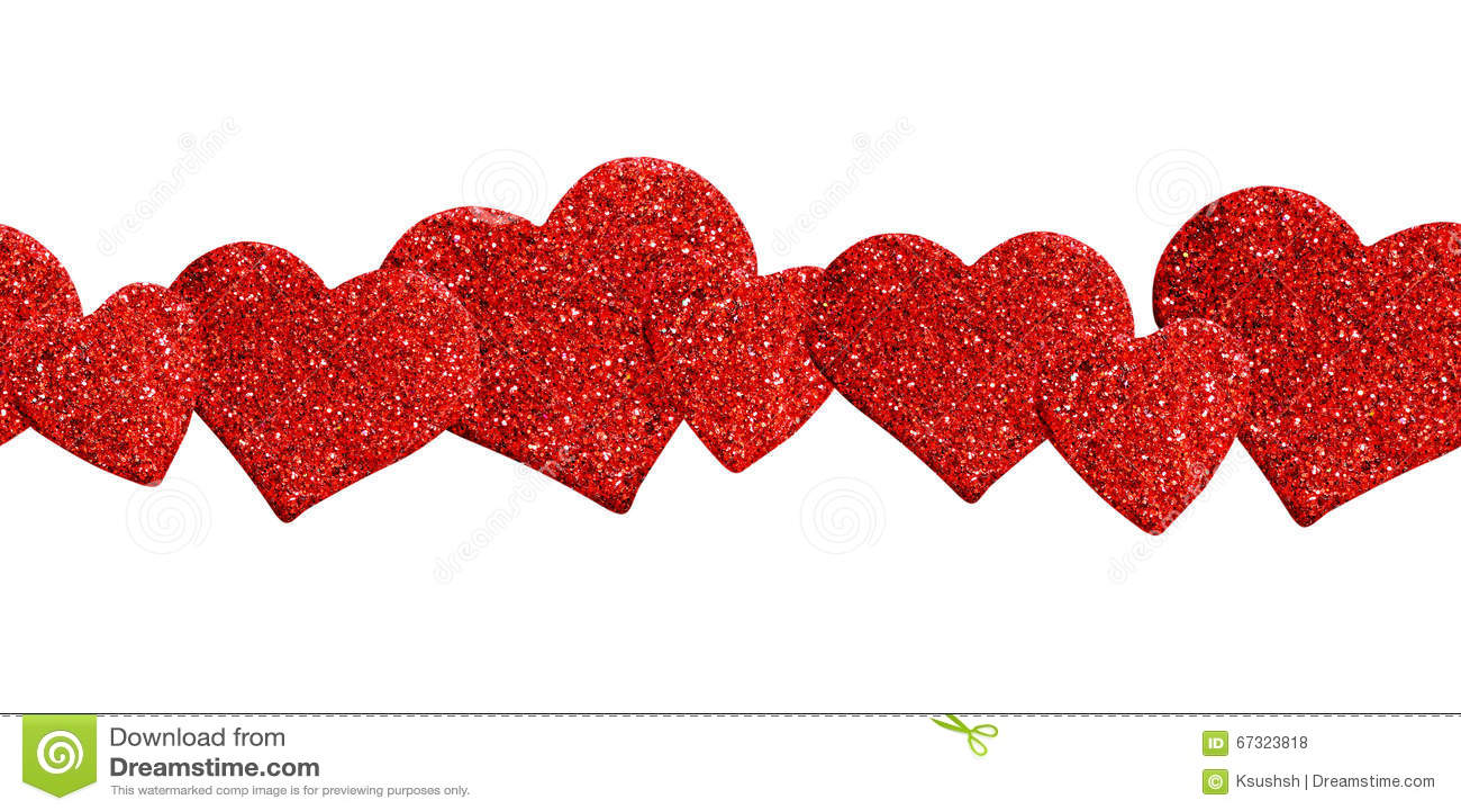 Linea De Corazones Decoracion Foto De Archivo Imagen De Amor - Corazones-de-decoracion