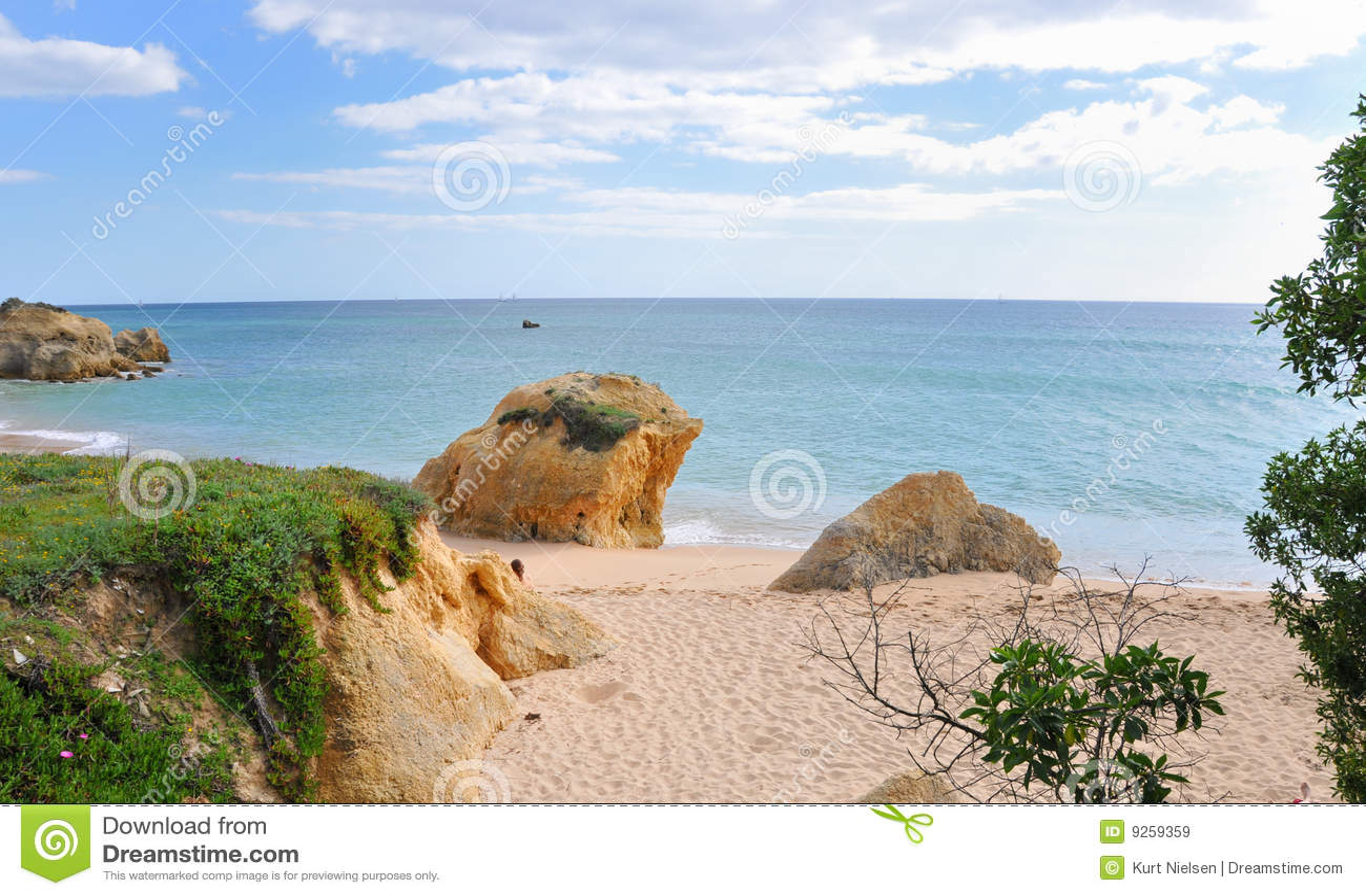Línea de costa de Albufeira