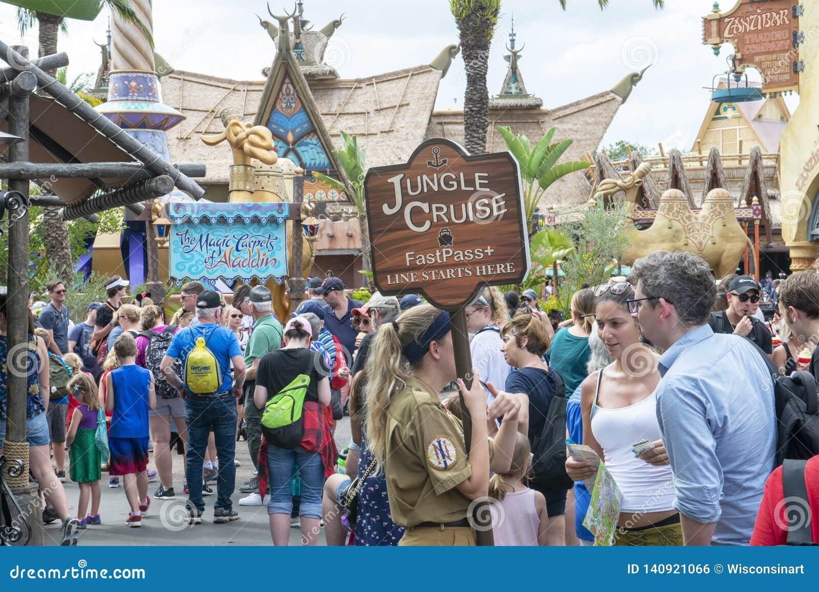 Línea de cruceros de la selva, Disney World, viaje, reino mágico