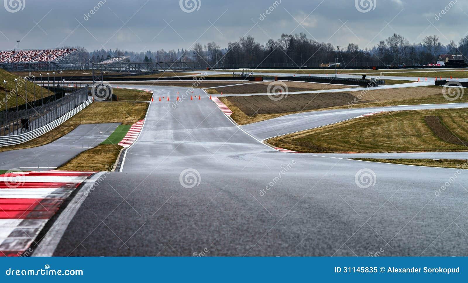 Línea de la pista de la manera de raza