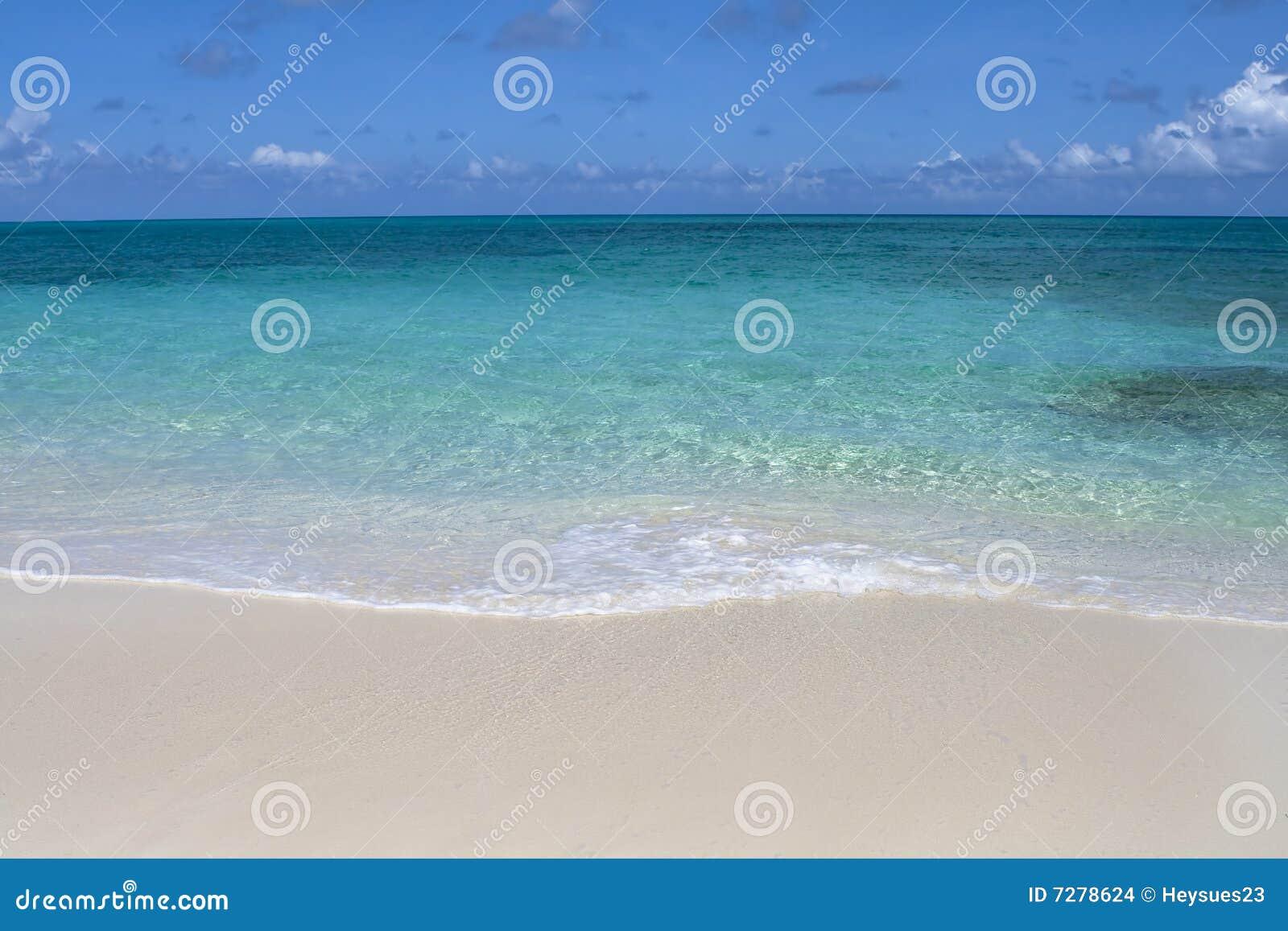 Línea de la playa tropical hermosa
