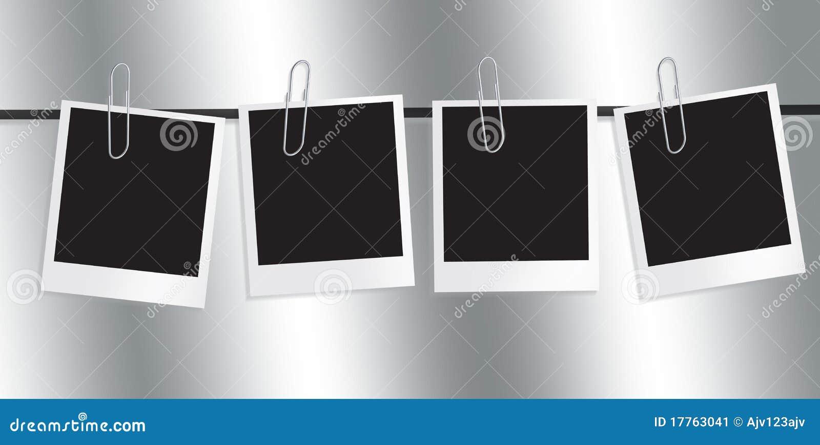 Línea De Marco Polaroid De Película Stock de ilustración ...