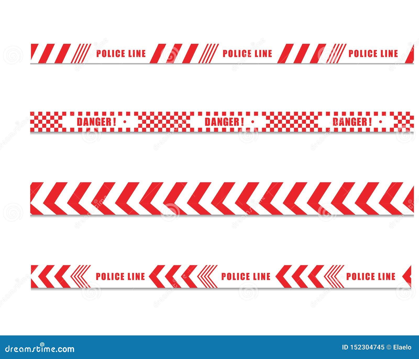 Línea de policía ilustration del diseño del icono