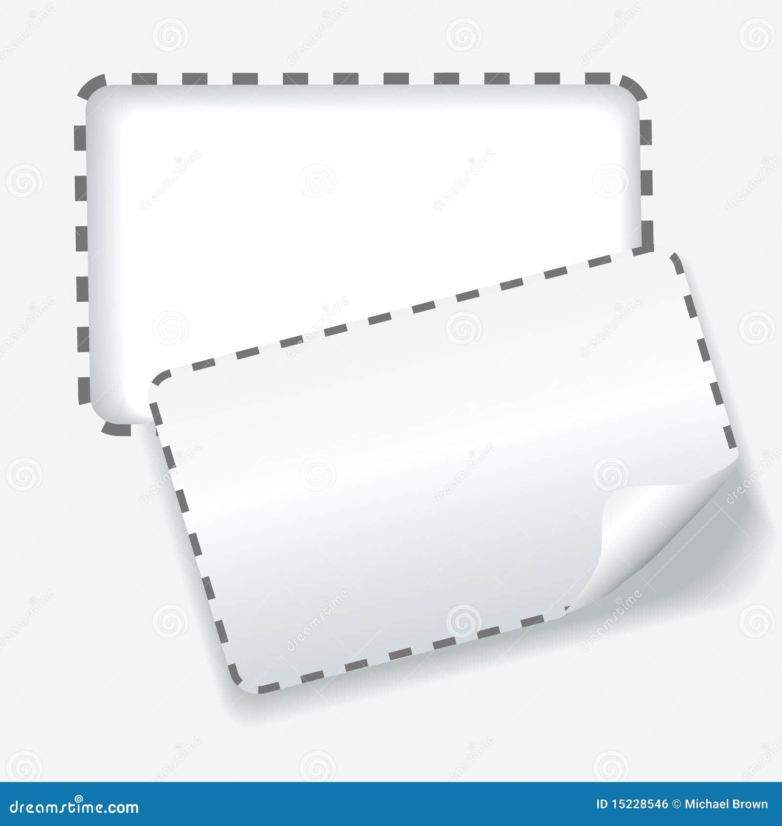 Línea de puntos redondeada recorte fondo de la cupón