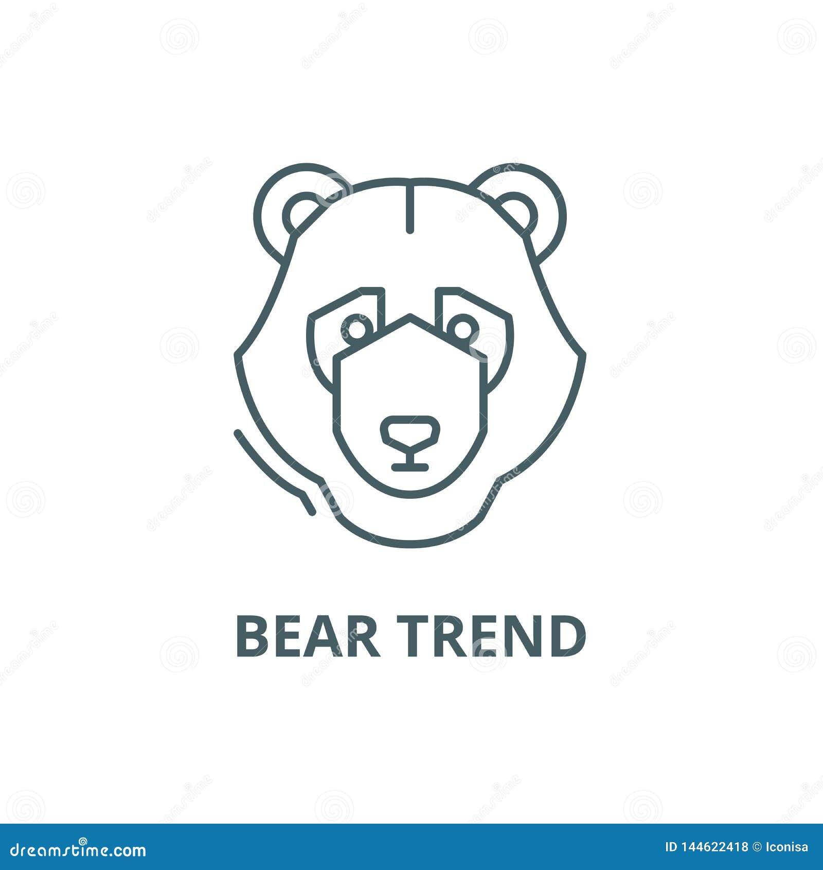 Línea de tendencia del oso icono, vector Muestra del esquema de la tendencia del oso, símbolo del concepto, ejemplo plano